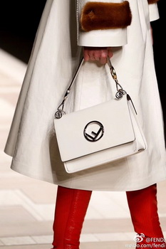 Fendi KAN I Leather Bag FD2670 OffWhite