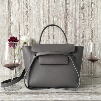 Celine Belt mini Bag Original Leather C98310 Deep Grey