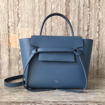 Celine Belt mini Bag Original Leather C98310 SkyBlue