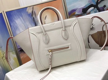 Celine Luggage Phantom Tote Bag Calfskin Leather CT3372 OffWhite