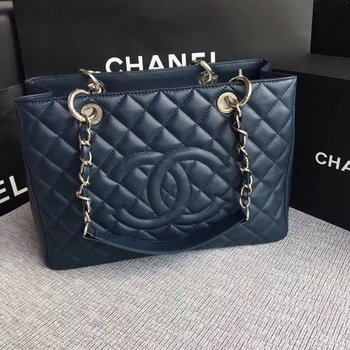Chanel LE Boy Grand Shopping Tote Bag GST Royal Cannage Pattern A50995 Silver