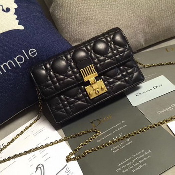 Dior DIORADDICT Wallet on Chain CD7056 Black