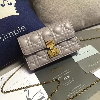 Dior DIORADDICT Wallet on Chain CD7056 Grey
