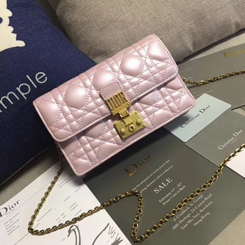 Dior DIORADDICT Wallet on Chain CD7056 Pink