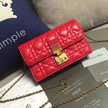 Dior DIORADDICT Wallet on Chain CD7056 Red