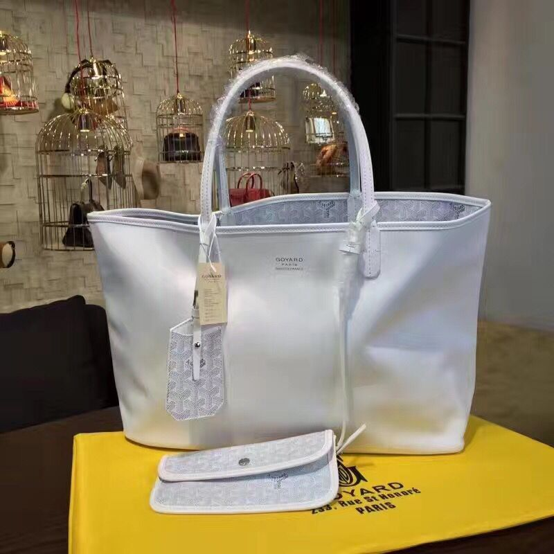 Goyard Y Doodling Calfskin Leather Tote Bag 7901 Offwhite