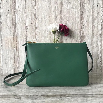 Celine Trio Crossbody Messenger Bag C55421 Green