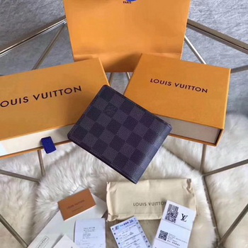 Louis Vuitton Damier Graphite Canvas MULTIPLE WALLET N62663