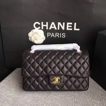 Chanel 2.55 Series Flap Bags Black Original Deerskin A1112 Gold