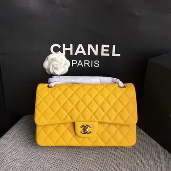 Chanel 2.55 Series Flap Bags Original Deerskin A1112 Yellow