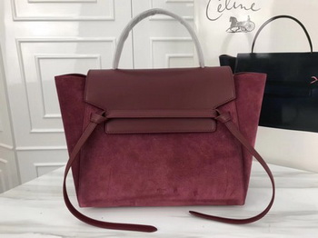 Celine Belt Bag Original Suede Leather C3349 Wine