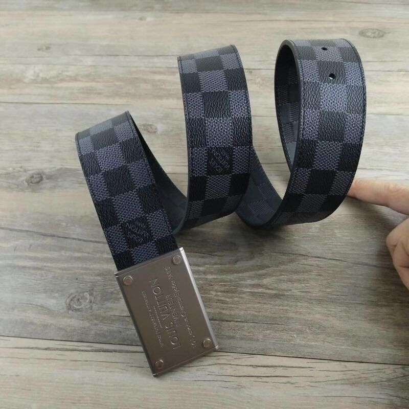Louis Vuitton Damier Ebene Canvas Belt LV20266E