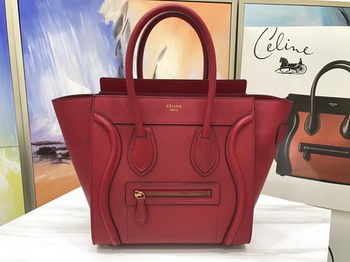 Celine Luggage Micro Tote Bag Original Leather CLY33081M Red
