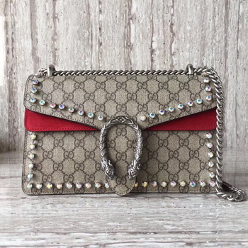 Gucci Dionysus Small GG Shoulder Bag 400249 Red