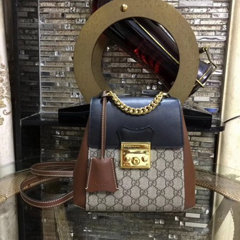 Gucci Padlock GG Supreme Backpack 498194 Black