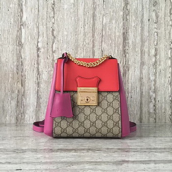 Gucci Padlock GG Supreme Backpack 498194 Red