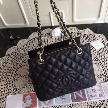 Chanel Coco Cocoon Leather Bag A18004 Black