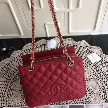 Chanel Coco Cocoon Leather Bag A18004 Red
