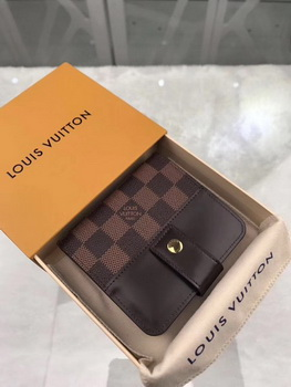Louis Vuitton Damier Ebene Canvas Zipped Compact Wallet N61667