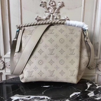 Louis Vuitton Mahina Leather BABYLONE CHAIN BB M51223 OffWhite