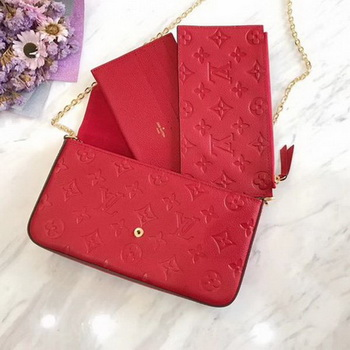 Louis Vuitton Monogram Empreinte POCHETTE FeLICIE M64064 Red