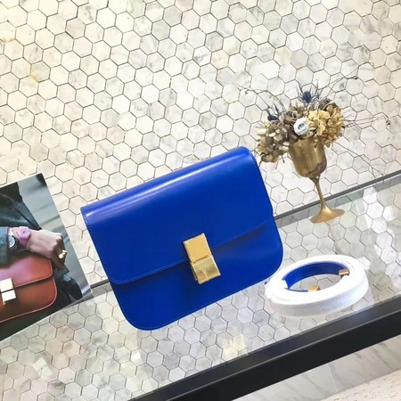 Celine Classic Box Flap Bag Original Calfskin Leather 5698 Blue