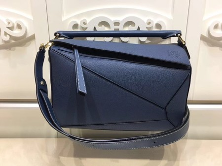 Loewe Puzzle Calfskin Leather Tote Bag 9122 Blue