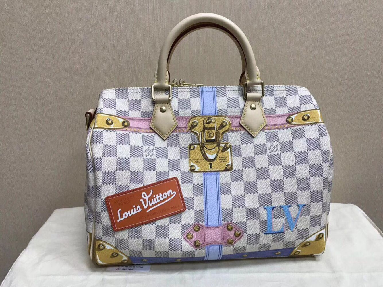 Louis Vuitton Damier Azur Canvas original speedy 30 B41112