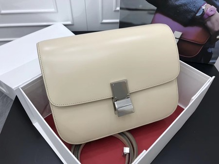 Celine Classic Box Flap Bag Original Calfskin Leather 3378 Apricot