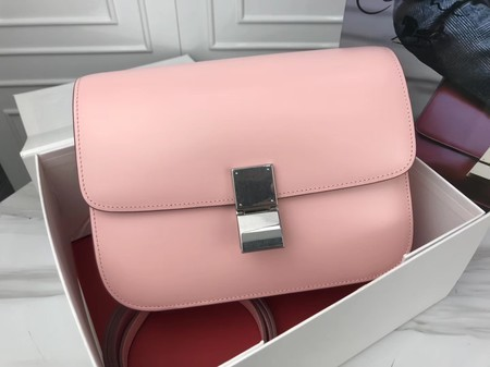 Celine Classic Box Flap Bag Original Calfskin Leather 3378 Pink