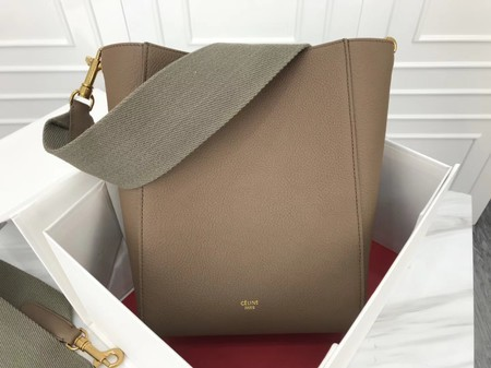 Celine Cabas Phantom Bags Original Calfskin Leather 3370 Khaki