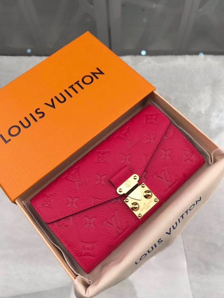 Louis Vuitton Monogram Empreinte PALLAS WALLET M62458 red
