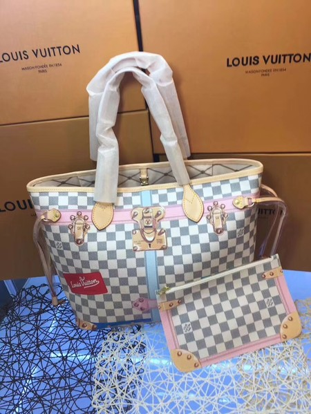 Louis Vuitton Damier Azur Canvas neverfull M40156
