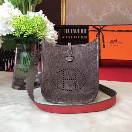 Hermes Evelyne mini 17cm Messenger Bag Original Calf Leather H1187 Grey