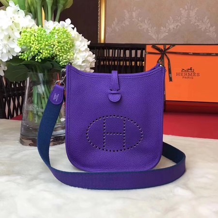 Hermes Evelyne mini 17cm Messenger Bag Original Calf Leather H1187 purple