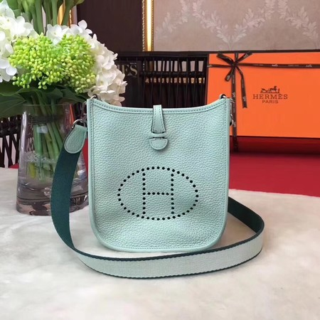 Hermes Evelyne mini 17cm Messenger Bag Original Calf Leather H1187 Light Green
