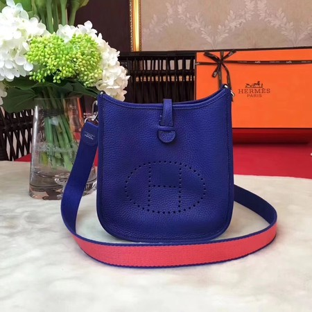 Hermes Evelyne mini 17cm Messenger Bag Original Calf Leather H1187 Blue