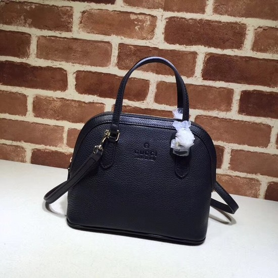 Gucci Calfskin Leather Small Tote Bag B341504 Black