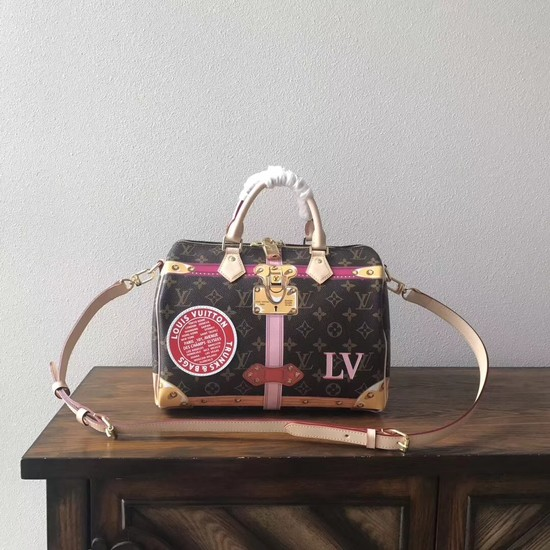 Louis Vuitton Bandouliere Summer Trunks SPEEDY 30 M41386