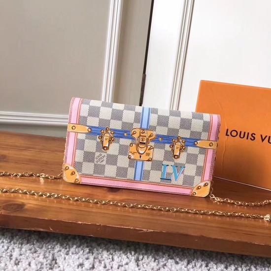 Louis Vuitton Pochette Weekend original Damier Azur Canvas N60108