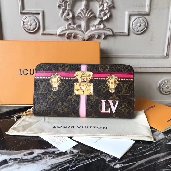 Louis Vuitton Zippy Wallet Monogram Canvas M62616 rose