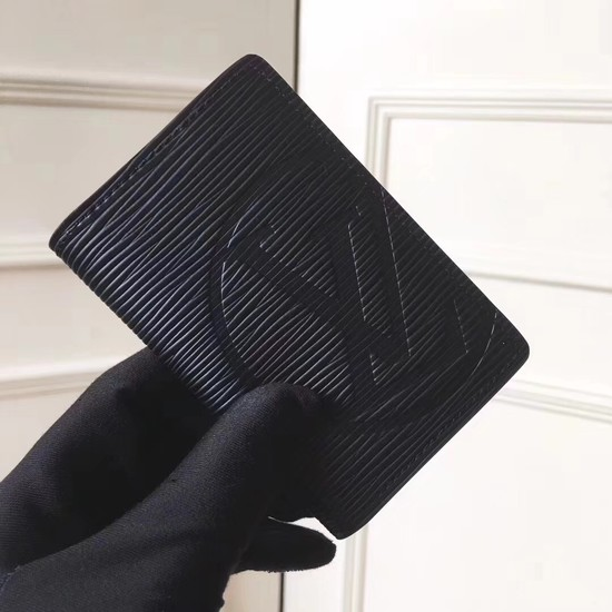 Louis Vuitton EPI leather Card package 63516 black