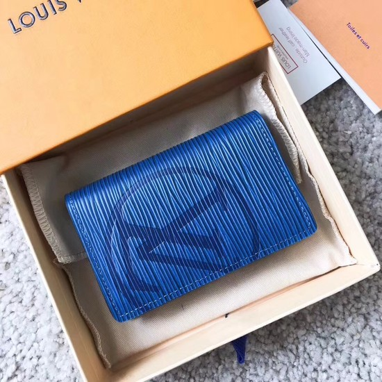 Louis Vuitton EPI leather Card package 63516 blue
