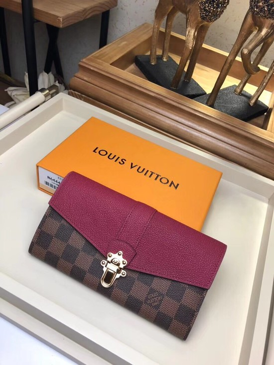 Louis Vuitton Damier Canvas CLAPTON WALLET N64448 Raisin