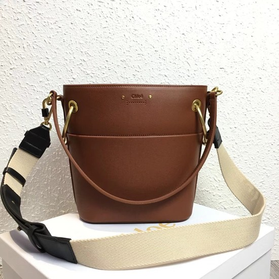 Chloe Roy Mini Smooth Leather Bucket Bag S126 camel