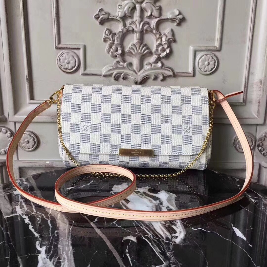 Louis vuitton original favorite damier azur canvas handbags M40718
