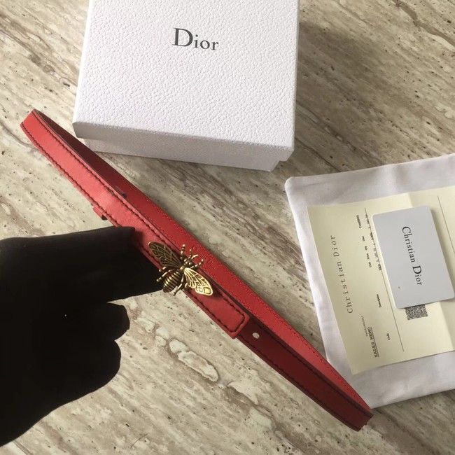 Dior BEE BELT CALFSKIN B0387 red