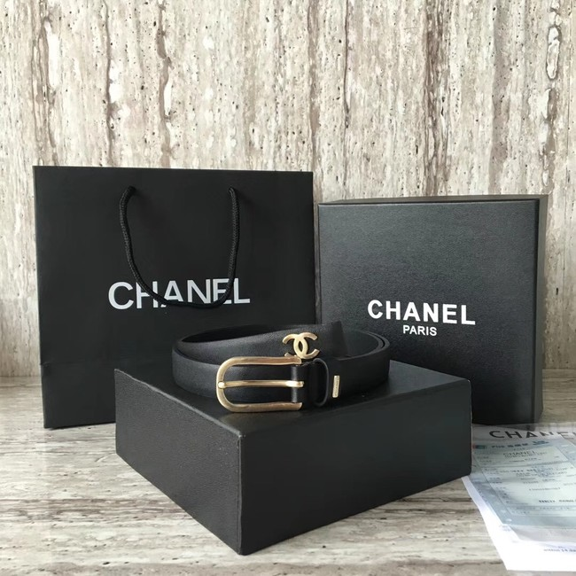 Chanel Original Calf leather Belt 56988 black