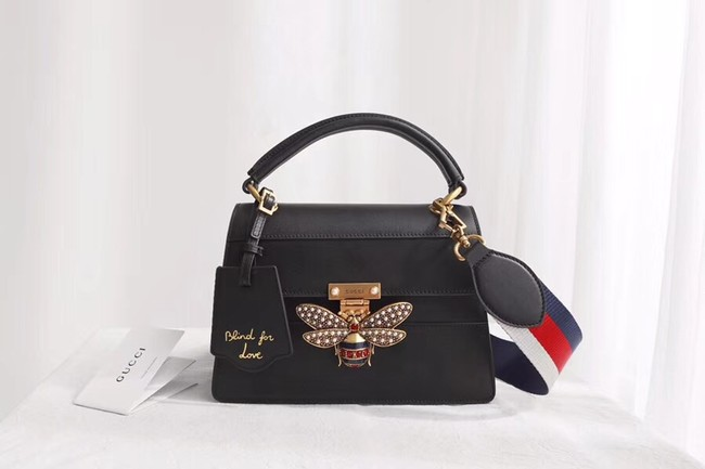 Gucci Queen Margaret small top handle bag 476541 Black