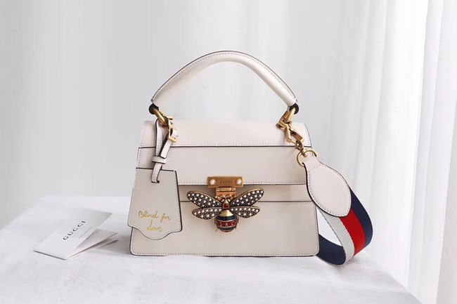 Gucci Queen Margaret small top handle bag 476541 white